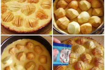Рецепт изумительного яблочного пирога »oбaлденный». Готовлю его очень часто!